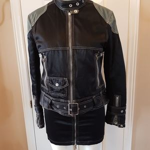 ❤J. Lindeberg❤ Biker Jacket/Mini Skirt